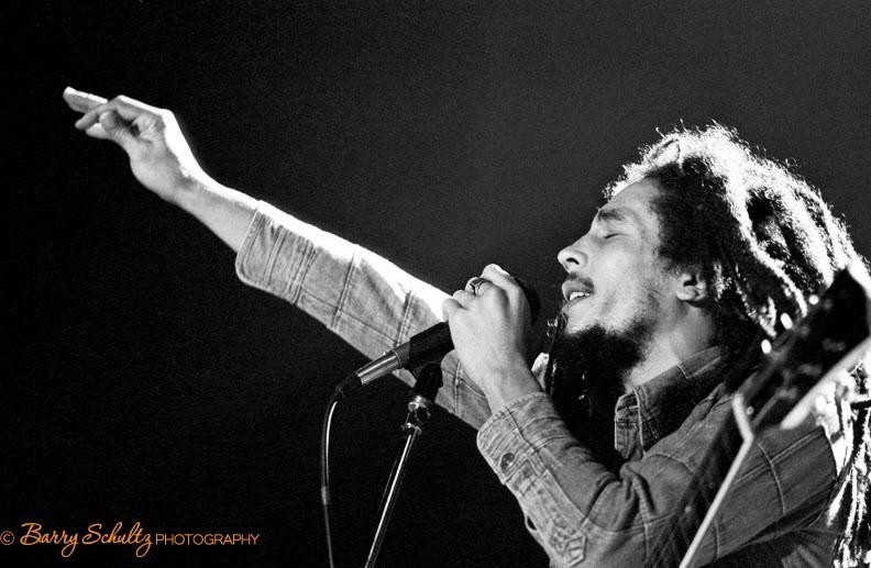 Bob Marley, live, ahoy hall, rotterdam, netherlands, barry schultz,