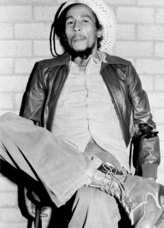 Bob Marley in his dressing room at Ahoy Hall, Rotterdam, the Netherlands before performing live on JULY 7, 1978.