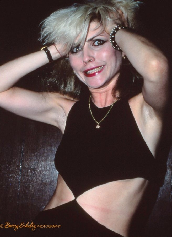 This photo of Debbie Harry of Blondie was made backstage in a tiny dark room after a concert at the Los Angeles Starwood Club / April 25th / 26th 1978.