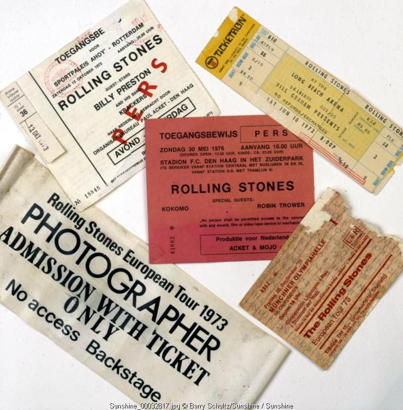 passes ticket tickets rolling stones concert