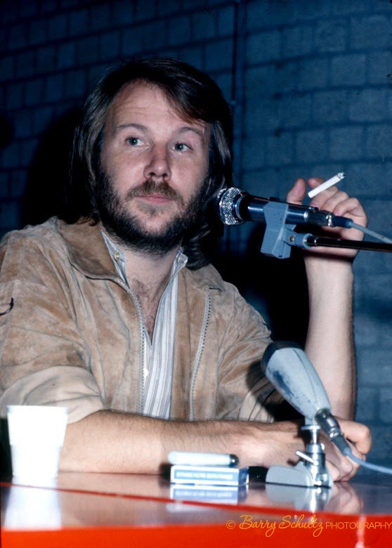 Press Conference Amsterdam with ABBA boys Bjorn and Benny 1979, Promoting new album and tour