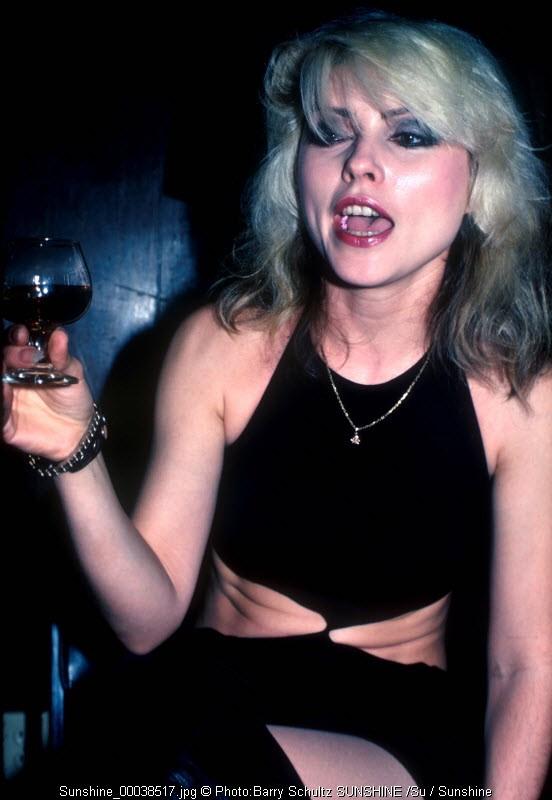 Blondie, Debbie Harry, backstage, drinking, rock and roll