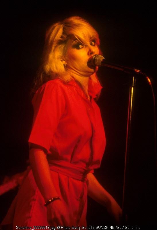 Debbie Harry of Blondie performing live concert at the Los Angeles Starwood 1978