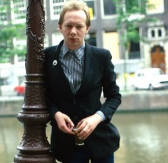 joe jackson, barry schultz, amsterdam, canals, holland, streets, tree, blackboard, school, suit, live, paradiso, 1977. netherlands