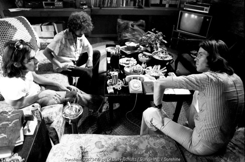 Glenn Frey and Don Henley of the Eagles made at Glenn's home in Los Angeles in 1975 during an interview with Dutch music magazine Muziekkrant OOR journalist Constant Meijers