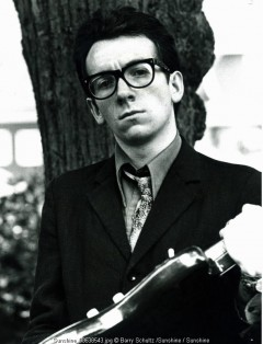 elvis costello, barry schultz, netherlands, radio, outdoor, guitar, rock and roll, 70s