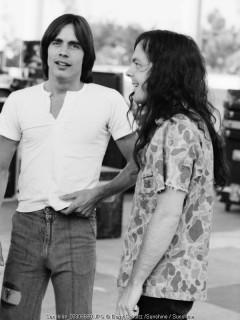 Jackson Browne, Barry Schultz, LA, Los Angeles, Anaheim, 1975, eagles, 70s, stadium, david lindley