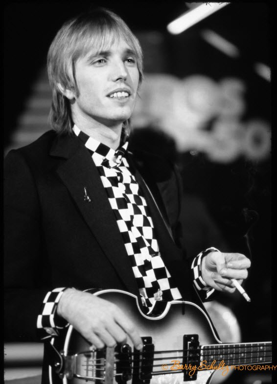 tom petty. tom petty and the heartbreakers, heartbreakers, barry schultz, posed, amsterdam, tv, studio, holland, netherlands, retro, classic rock photography, rock photographer, iconic rock and roll, fine art, print photography, i won't back down, free fallin, runnin down a dream, learning to fly, into the great wide open