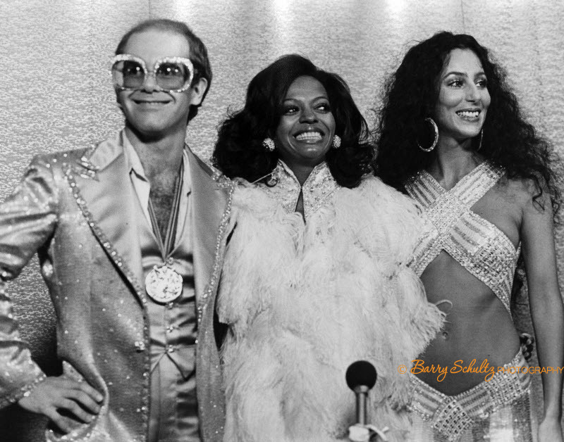 cher, elton john, donna summers, barry schultz