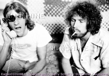 Glenn Frey & Don Henley of The Eagles at Glenn's LA house