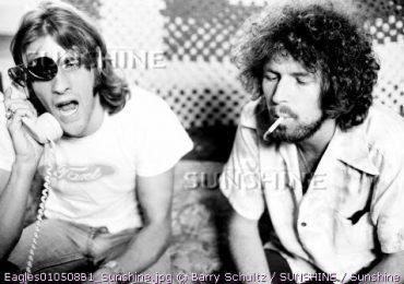 Glenn Frey & Don Henley of The Eagles at Glenn's LA house