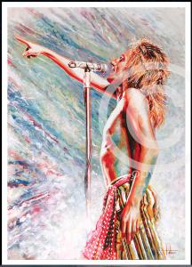 Rod Stewart painting